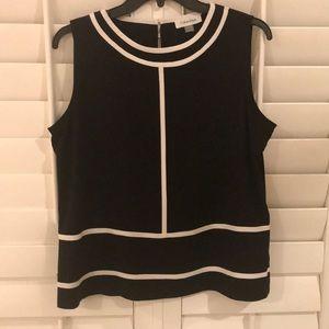 Calvin Klein - Black Sleeveless Shell - Petite L